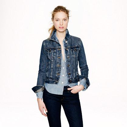 J.Crew Vintage denim jacket in recycled indigo wash