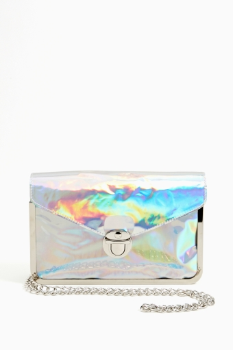 Nasty Gal Reflected Clutch, Nasty Gal