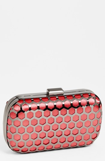 Expressions Nyc Hexagonal Box Clutch Pink/, Expressions Nyc