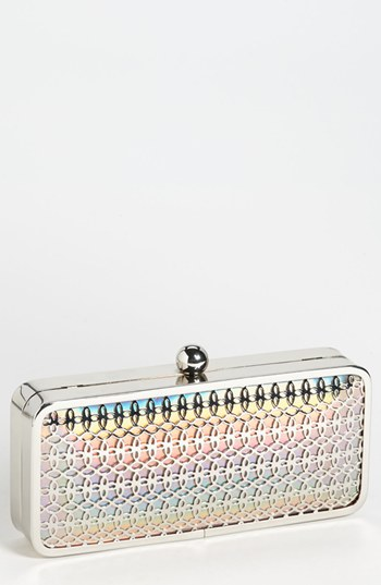 Jessica Mcclintock Iridescent Faux Leather Minaudiere, Jessica Mcclintock