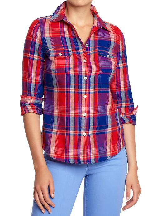 Filter lookmazing for Womens navy plaid shirt