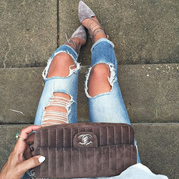 When my shoes (sorta) matched my bag and we called it family date night, pointed shoes, distressed jeans