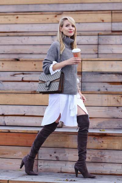 WHERE IS THE LOVE | HAMBURG, oversized sweater, over the knee boots