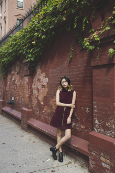 NYFW OUTFIT #nyfwss16, fall, suede, burgundy, leather,