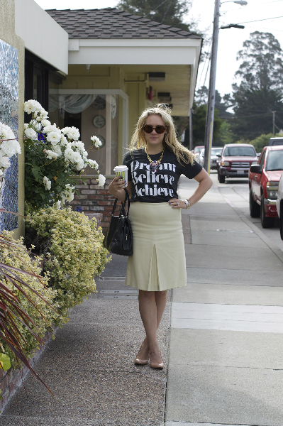Dream Believe Achieve, Dream Believe Achieve, How to Style a Graphic Tee, Inspirational t-shirt, LookMazing, LookMazing Contest, ShopBop, Sincerely Jules, Who Wore it Best, Words to live by