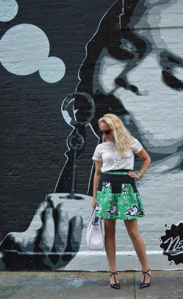 NYFW Street Style Day 1, NYFW, DVF, Street Style, Fashion Blogger, Dressy, Floral Print Skirt
