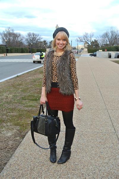 Fur vest love... , studs, cheetah, leopard, fur vest, crochet skirt, beanie