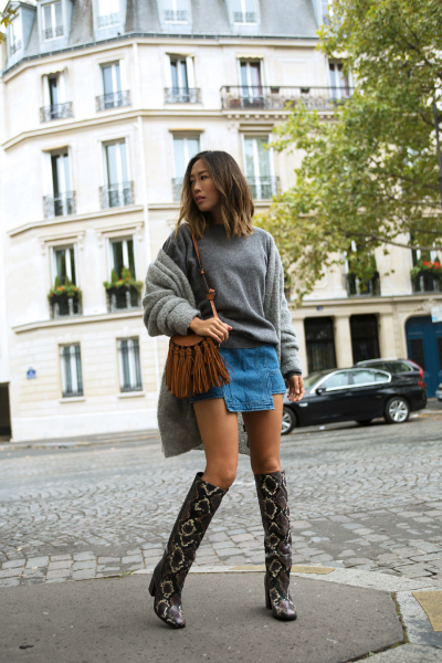 GLOOMY DAY IN PARIS, knee high boots