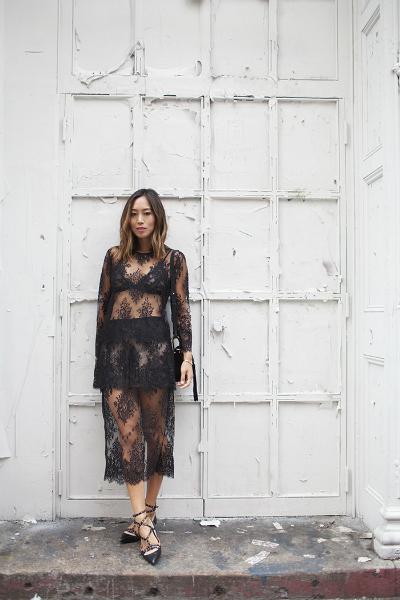 MASON BY MICHELLE MASON LACE, black lace, sexy dress