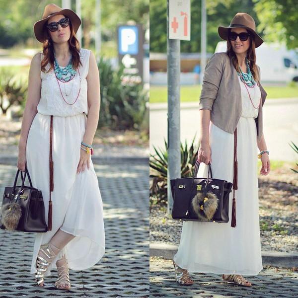 White maxi dress, white, dress