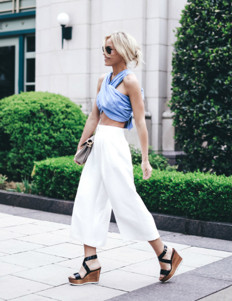 TWO LOOPS, TWO LOOSE ENDS, LMculottes, culotte, crop top, wedge