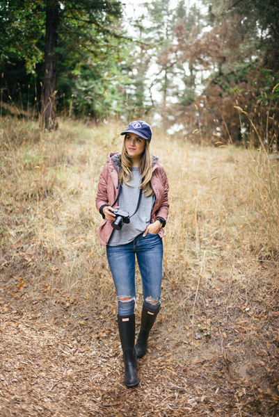 FALL IN BIG SUR, knee high boots, tall boots, rain boots, hunter boots
