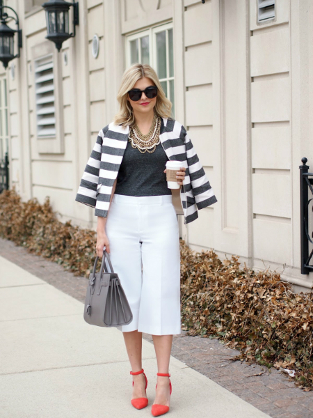 COOL CULOTTES, culottes, white pants, LMculottes