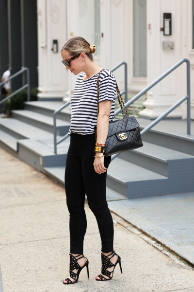Soho Cool, classic, girly, stripetee, vince, summer, celine, chanel, miansai, hudsonjeans, brianatwood