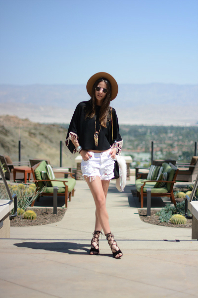 Ain't Coachella Without JBrand, LMfestival, LMsandals, music festival, coachella2015, distressed denim, LMdjeans