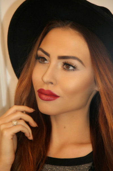 A Touch of Red..., makeup, holiday, glitter, red lipstick, beauty, winter, trend, style