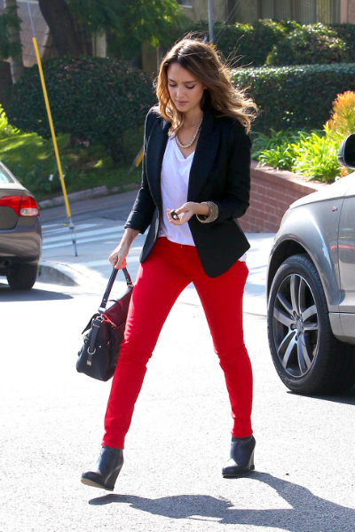 Jessica Alba in Black Blazer