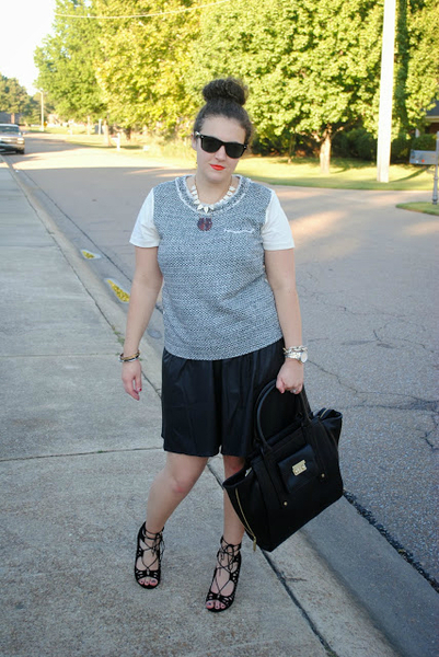 Leather and Tweed + A Giveaway, pleated leather, trend