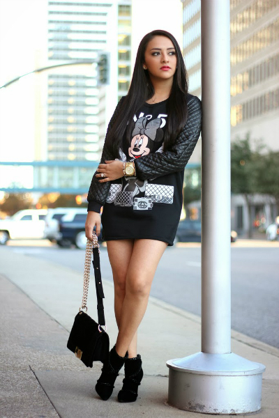 The Minnie Mouse Dress, black and white, trend, winter, style