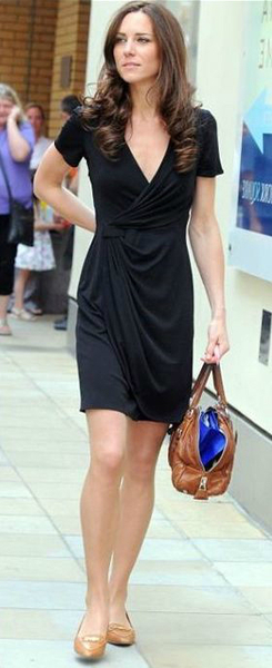 Kate Middleton in a wrap dress