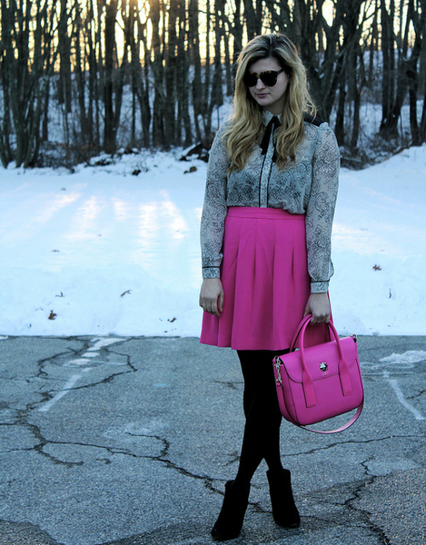 Lace + Snapdragon Pink, bow ties, fall, style, trend