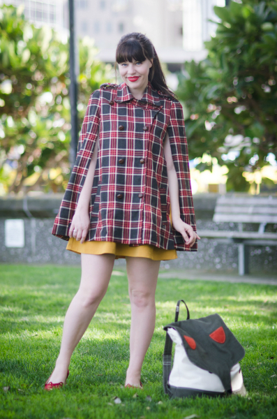 Cape Weather, tartan, fall, cape, style, trend