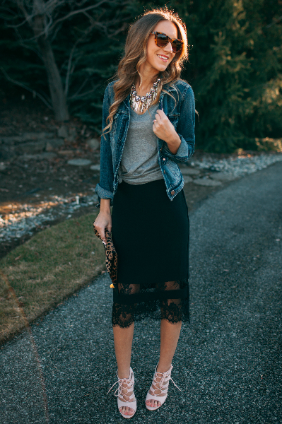 Who Wore it Best x Twenties Girl Style - Date Night , date night, black skirt, leopard, girly, laid-back