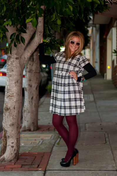 #lookmazing Holiday Giveaway , Smock Dress, Holiday Style, Fashion, Style, Colored Tights, Platform Pumps