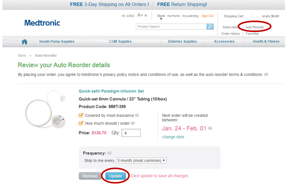 Sign Up for Auto Reorder – One Less Thing to Worry About! | The LOOP Blog