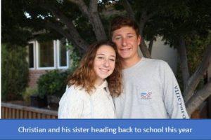 Christian and sister