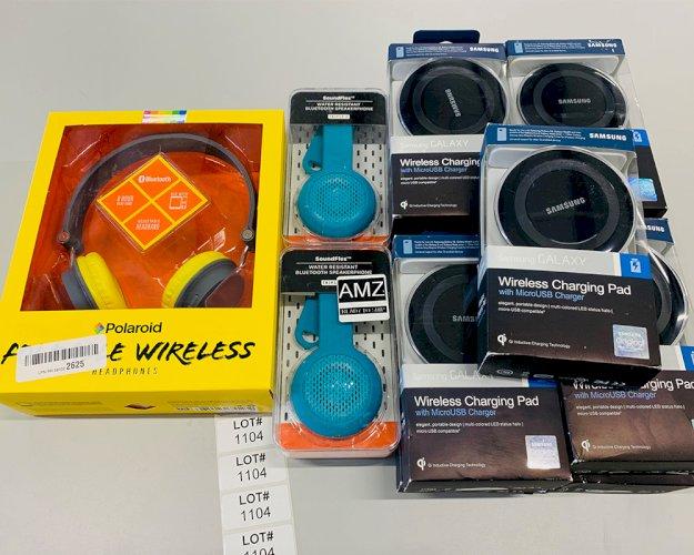 Samsung Charger, Sound Flex Speakers, Polaroid Headphones