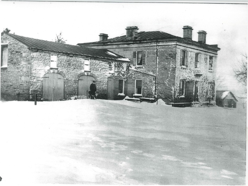 Stone Eagle Farm Detroit Rd. looking north from the rear of the house c.1930