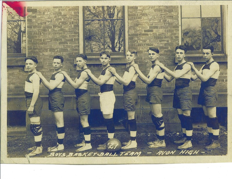 Avon High School basketball team 1921 at Julian St. School
