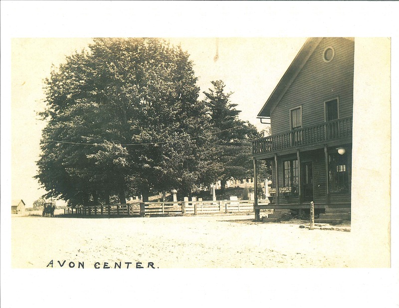 Avon Center looking southeast.  Detroit Rd. and RT 83.  c.1910