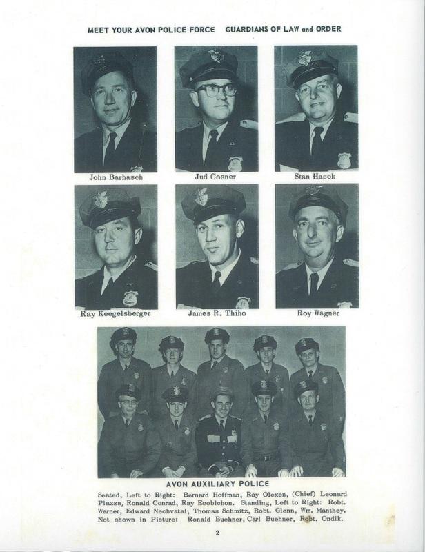 Avon Police advertisement 1961