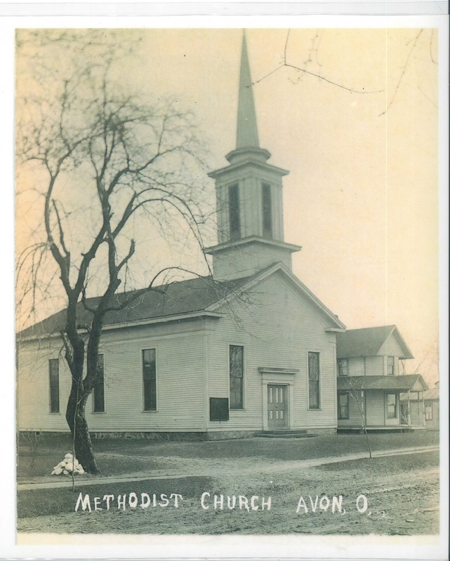 Original Methodist Church which burnt down in 1910 south side of Detroit Rd c.1900