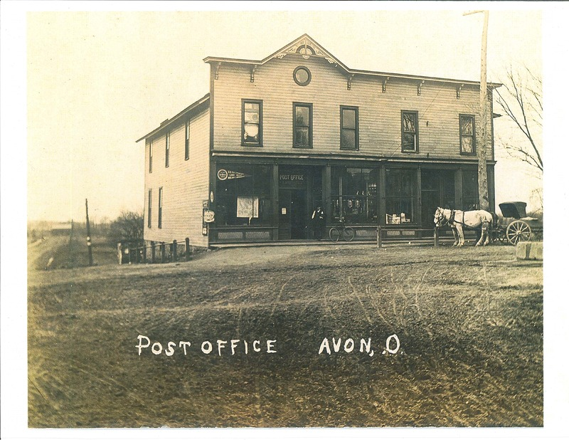 Avon Post Office northeast corner Detroit and 611. c.1895