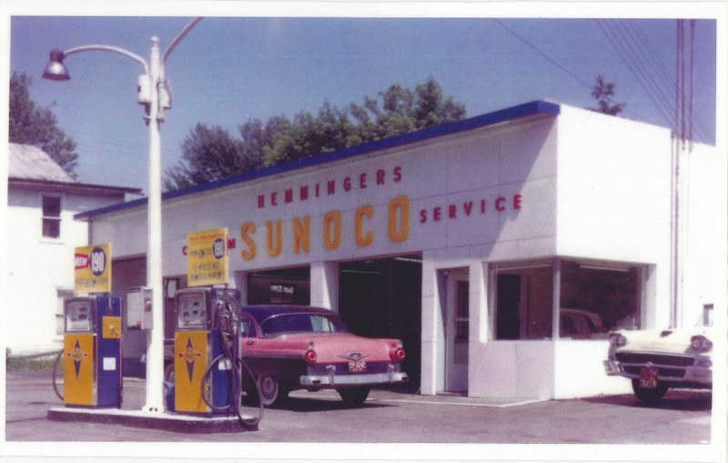 Hemmingers Sonoco Station south side of Detroit Rd next to Buck Hardware c.1959