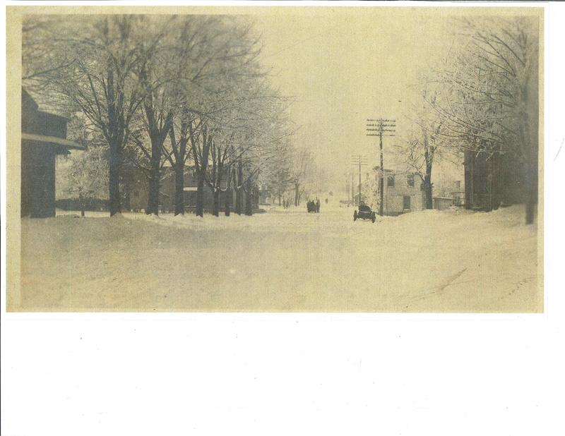 Detroit Rd. and RT 611 looking west.  c.1915