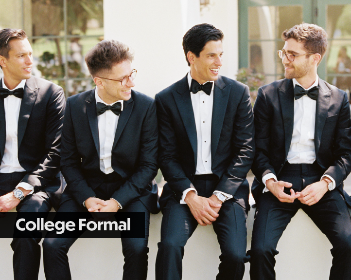 College Formal Black Tie Events Tuxedos