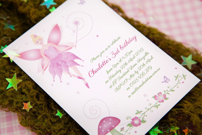 Fairy Party Birthday Invitations