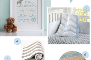 Blue and Grey Nursery Ideas