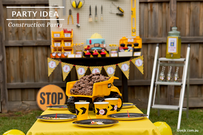 Construction Party Header