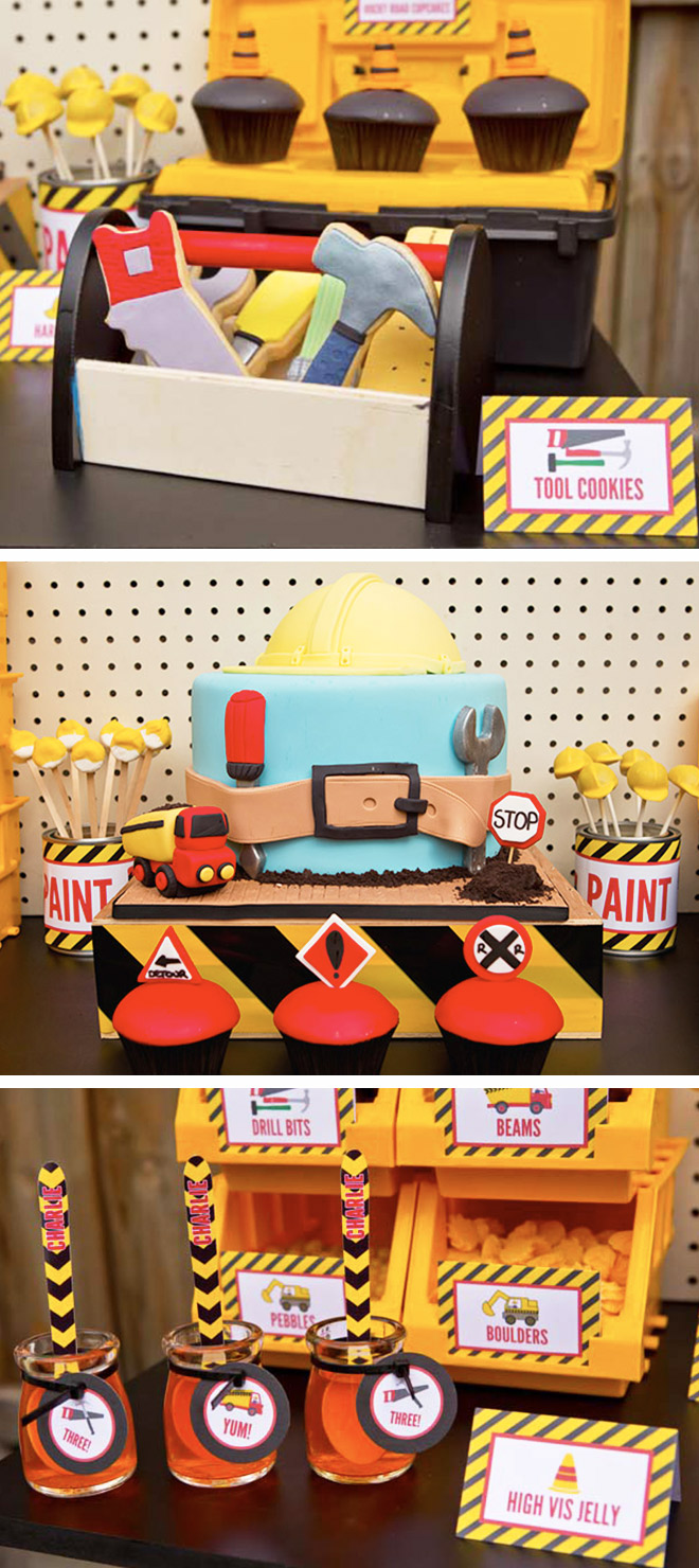 Construction-themed party food for budding builders on their birthday!