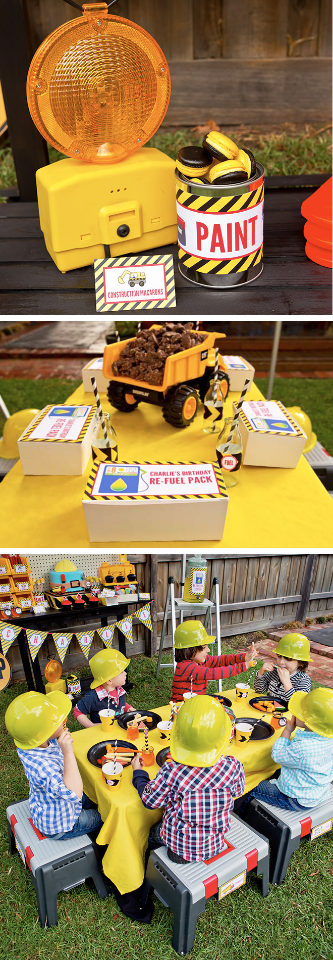 Caution! Construction Party Ahead! Lunchboxes, treats and more...
