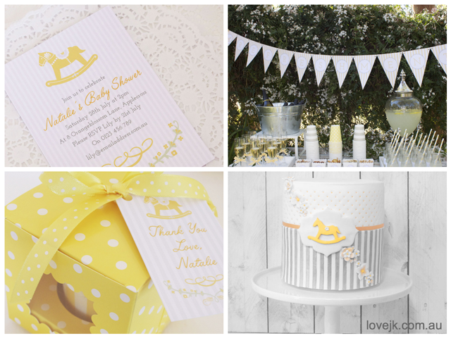 Rocking Horse Baby Shower in Yellow
