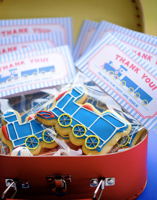 Train Party Cookie Favours - The perfect thank you!