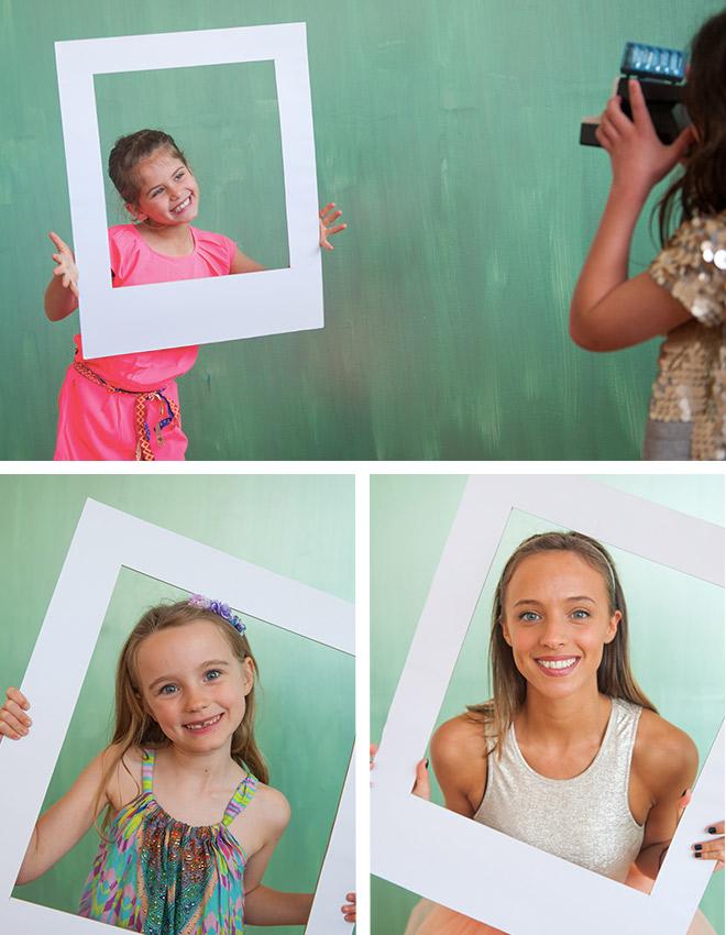Disco Party DIY Ideas - Make your own polaroid picture!