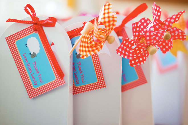Farmyard Party Favour Bags and Thank You Tags from Love JK