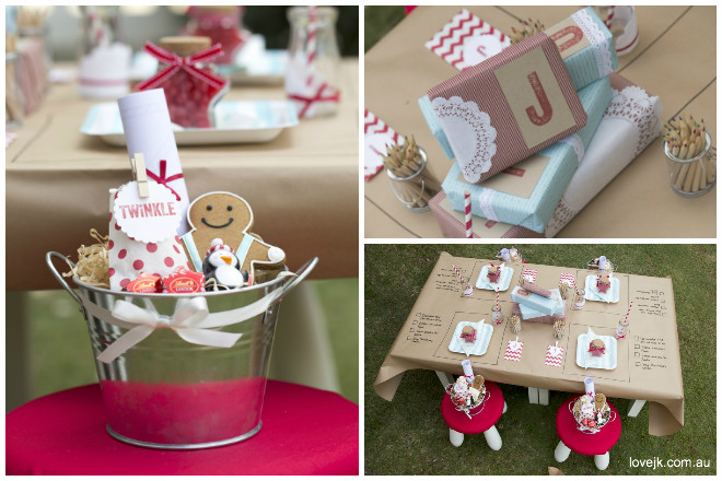 Every Christmas Kid Was Given A Little Hamper Filled With Goodies To Keep Them Smiling All Afternoon Our Festive Tins Were Gingerbread Cookies